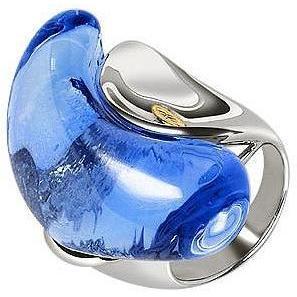 Masini Gioielli Vanità Ring mit blaüm Muranoglasstein