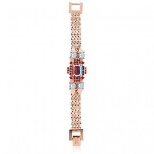 Mawi Pyramid und Pearl Gemstone Armband