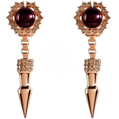 Mawi Rose Gold-Plated Spike & Cabouchon Pearl Ohrringe