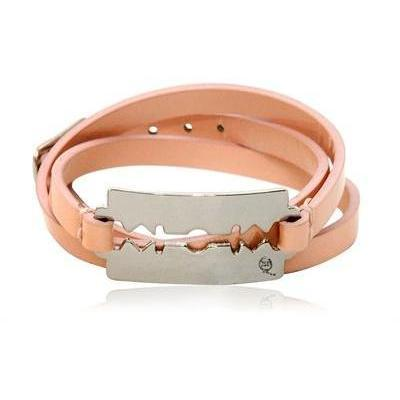 McQ Alexander McQueen Armband aus Lackleder Zum Dreimal Wickeln