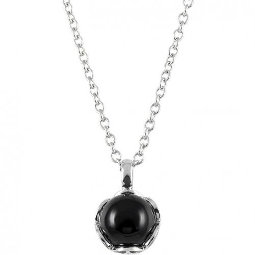 merii Silber Damen-Halskette Schwarz