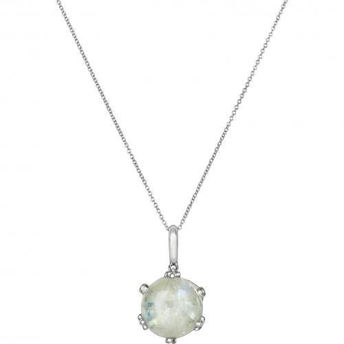 Mia & Beverly Halskette aus 18k Gold mit Diamanten und Rubin