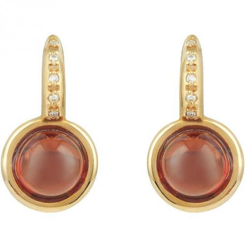 Mia & Beverly Ohrringe aus Rosegold mit Diamanten und Granat