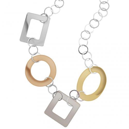 Mita Marina Milano Big Halskette aus Sterlingsilber und Rosegold