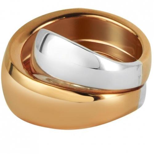 Mita Marina Milano Kiss Ring aus Sterlingsilber und Rosegold