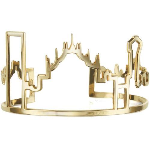 Mita Marina Milano Skyline Milano Armband aus vergoldetem Silber