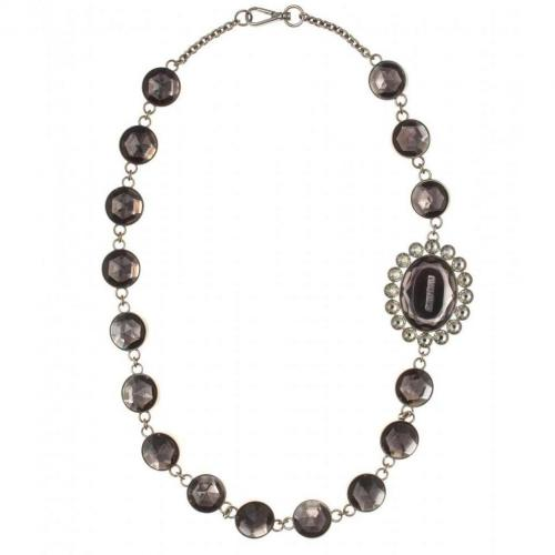 Miu Miu Halskette mit Kristallglassteinen Schwarz