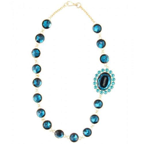 Miu Miu Halskette mit Kristallglassteinen Türkis