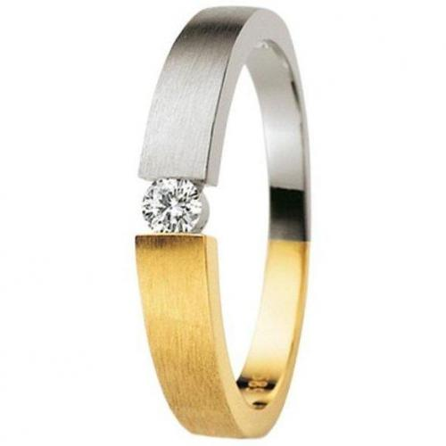 Moncara Damenring Bicolor mit Diamant