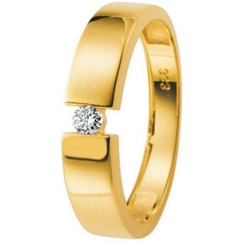 Moncara Damenring Gelbgold mit Diamant