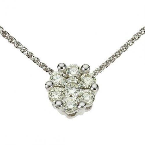 Moncara Diamant-Anhänger m. Kette Weissgold 585