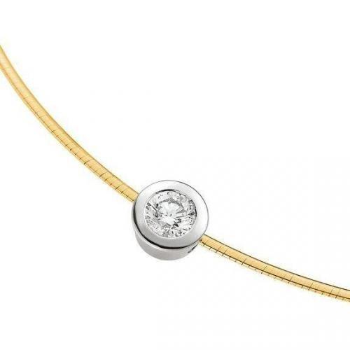 Moncara Diamant-Anhänger mit Kette Gold 585