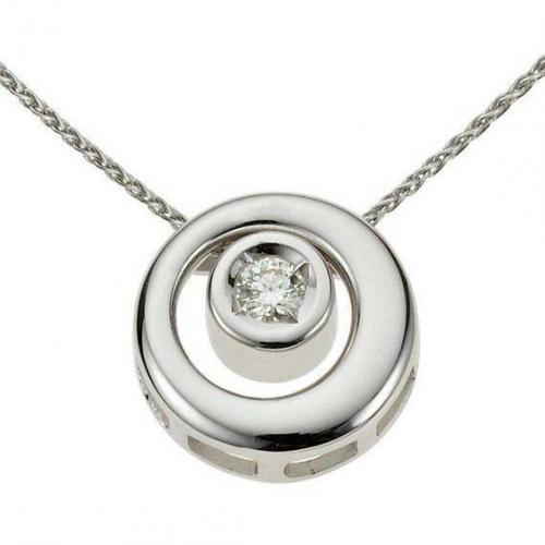 Moncara Diamant-Anhänger Weissgold 375