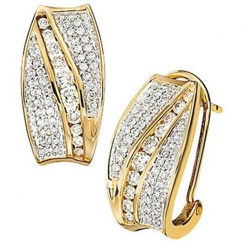 Moncara Diamant-Ohrclips Gold 585