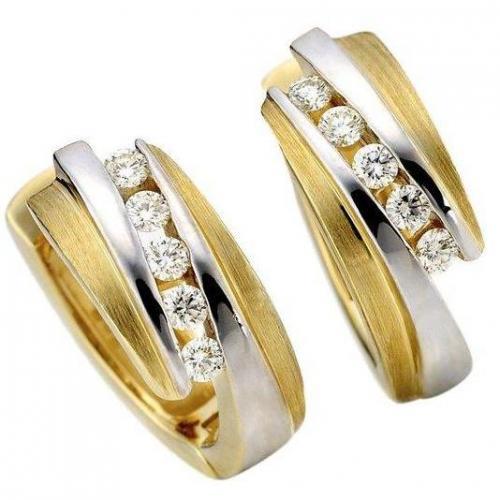 Moncara Diamant-Ohrstecker 585 Gelbgold