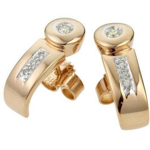 Moncara Diamant-Ohrstecker Gold 375