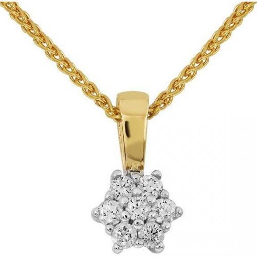 Moncara Kette mit Diamant-Anhänger Gold 375