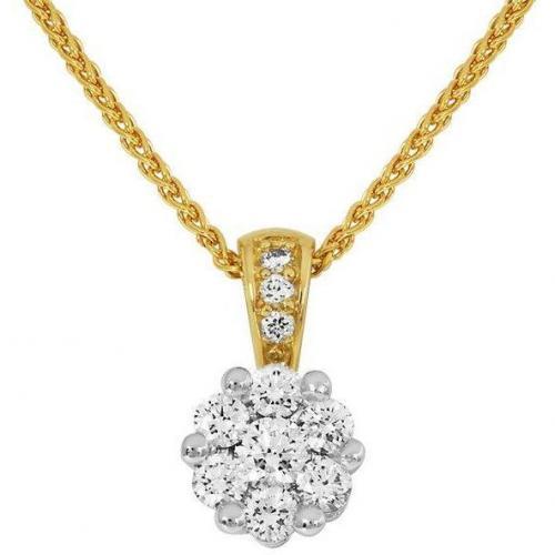 Moncara Kette mit Diamant-Anhänger Gold 585