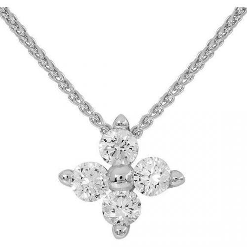 Moncara Kette mit Diamant-Anhänger Weissgold 585