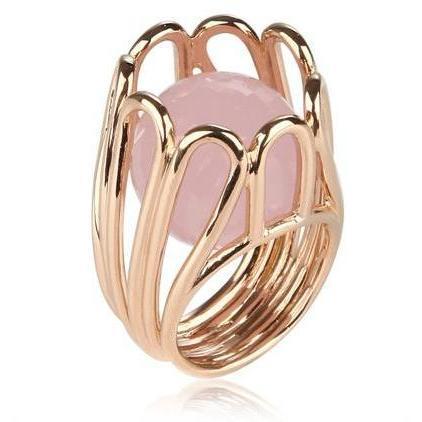 Mossa By M.G. Rosa Gold & Rosen Quartz Ring