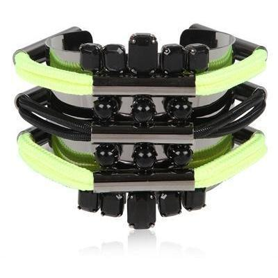 Moutoncollet Neon gelbes Armband