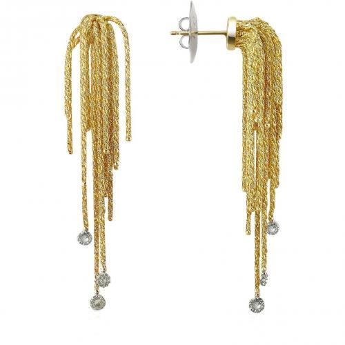 Orlando Orlandini Flirt Ohrringe aus 18k Gelbgold mit Diamanten