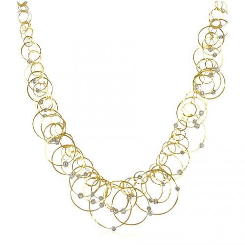 Orlando Orlandini Scintille Anniversary Halskette aus 18k Gelbgold mit Diamanten