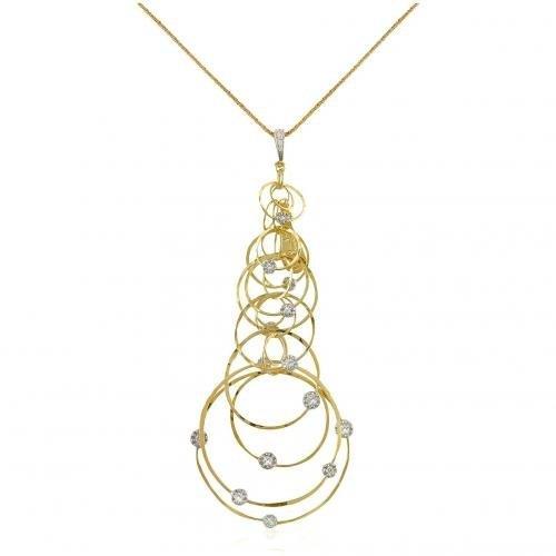 Orlando Orlandini Scintille Halskette mit Anhänger aus 18k Gelbgold