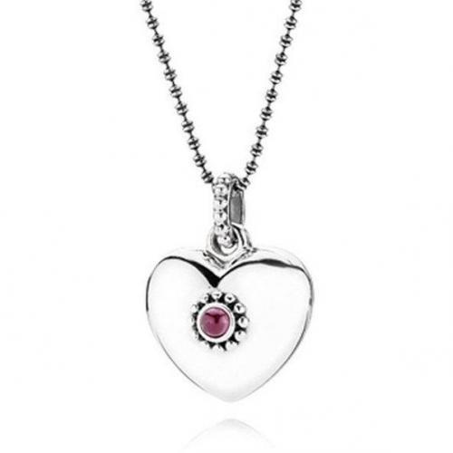 Pandora Kette Silber mit Herz 90332RHL-80