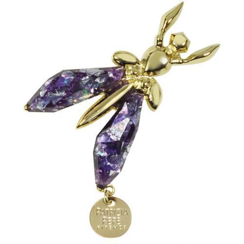 Patrizia Pepe Purple Glitter Fly Brosche