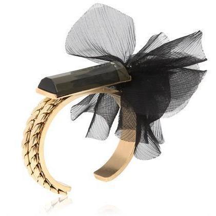 Paula Bianco schwarze Tutu Bangle Armband