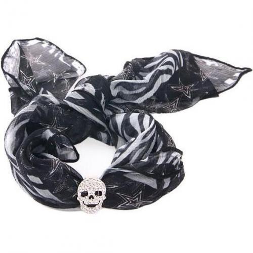 Philipp Plein Silk Bracelet Skullicious Starlet Zebra