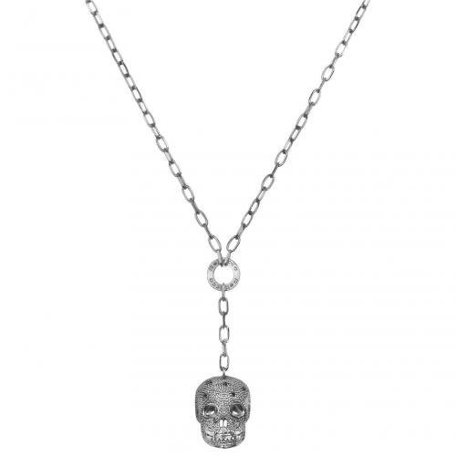 Rebecca Manhattan- Halskette mit Totenkopfanhänger