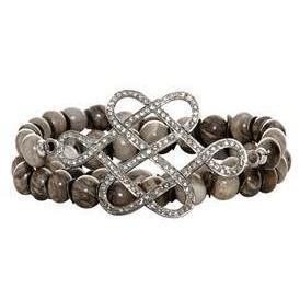 Renee Sheppard Achat Armband Loveknot grey