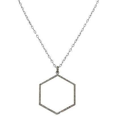 Renee Sheppard Sterlingsilberkette Hexagon silver
