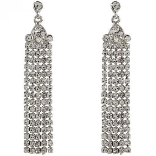 R.j.Graziano Silver-Toned Crystal Drop Ohrringe Big