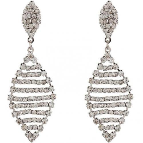 R.j.Graziano Silver-Toned Crystal Drop Ohrringe Trapeze