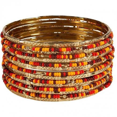 R.j.Graziano Warm Colored Metal/Seed Bangle