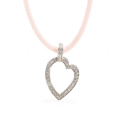 Roberto Marroni Halskette mit Anhänger aus Sterlingsilber mit weißen Diamanten