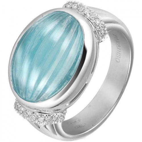 Roma Imperiale Ring aus 18k Gold mit Aquamarin und Diamanten