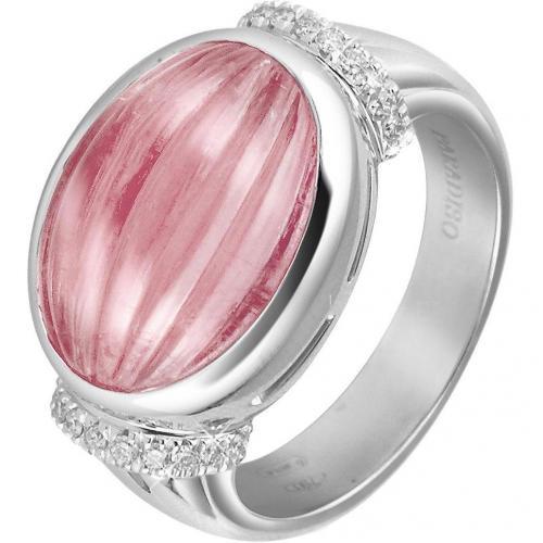 Roma Imperiale Ring aus 18k Gold mit Rubellit und Diamanten in pink