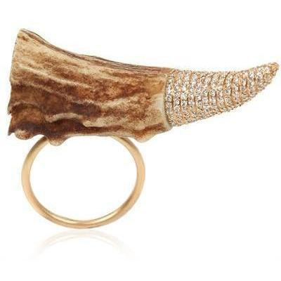 Ruby Kobo Diamant Tip Horn Ring