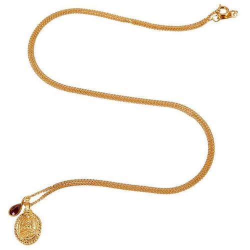 Satya Gold and Garnet Halskette Everlasting Light