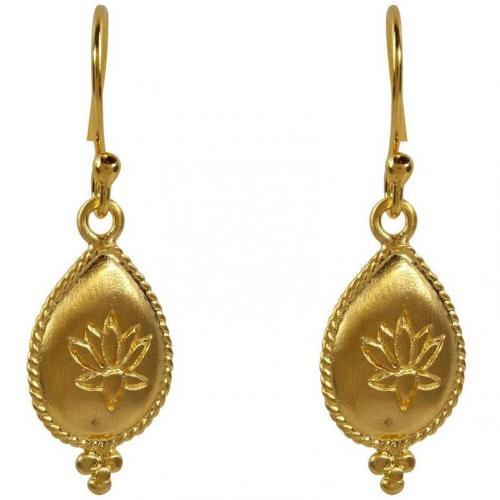 Satya Gold Lotus Drop Ohrringe Blissful Blooms