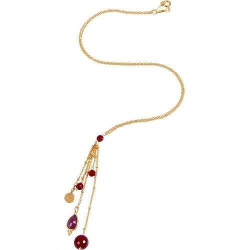 Satya Ruby Cascade Swirl Halskette Balance Energies