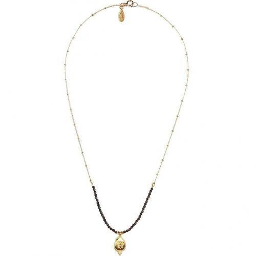 Satya Smokey Topaz Lotus Halskette