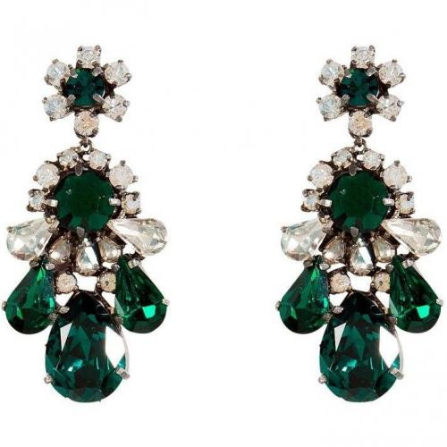 Shourouk Emerald Green Crystal Ds Ohrringe