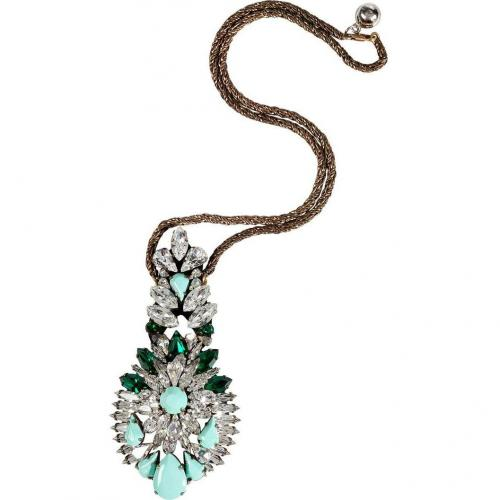 Shourouk Mint/Emerald Crystal Leitmotiv Zambia Halskette