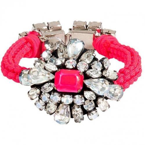 Shourouk Neon Pink Crystal Baraka Wanda Armband