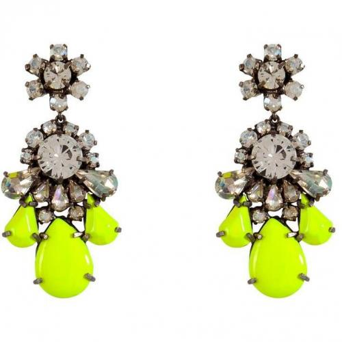 Shourouk Neon Yellow Crystal Ds Ohrringe